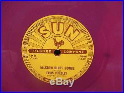 ELVIS PRESLEY Original Elvis songs 5 record set NM 78 rpm COLORED SUN