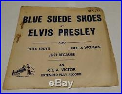 ELVIS PRESLEY PROMO BLUE SUEDE SHOES MAILER SLEEVE WithRECORD