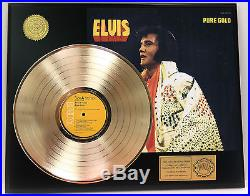ELVIS PRESLEY PURE GOLD GOLD LP LTD EDITION RARE RECORD DISPLAY