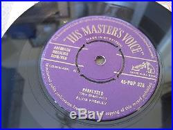 ELVIS PRESLEY Paralyzed 1957 GOLD HMV NEAR MINT