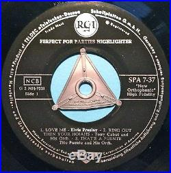 ELVIS PRESLEY Perfect for parties Rare GERMAN orig EP 1956