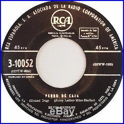 ELVIS PRESLEY Perro De Caza Orig 1sT 1957 FIRST 45RPM RCA 3-10052 TOP EX+