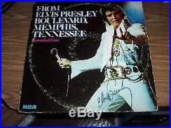 ELVIS PRESLEY RARE AUTHENTIC AUTOGRAPH SIGNED RECORD ALBUM With COA AND APPRAISAL