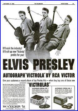 ELVIS PRESLEY RCA VICTOR VICTROLA RECORD PLAYER Signature ©1956 4-Speed RARE EX