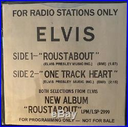 ELVIS PRESLEY ROUSTABOUT SP 45-139 WHITE LABEL PROMO 45 RECORD WithRARE PIC SLEEVE