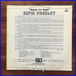 ELVIS PRESLEY Rock'N Roll RARE HMV NO DOT UK Original 1956 VINYL LP CLP 1093