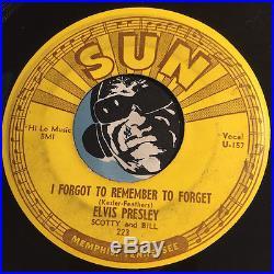 ELVIS PRESLEY Rockabilly 45 OG Sun #223 Mystery Train b/w Forgot 45-U-156 20