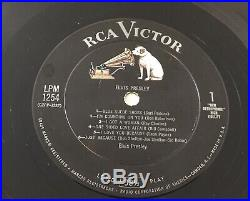 ELVIS PRESLEY SELF TITLED ORIGINAL US RCA/VICTOR MONO LP s/t lpm 1254 VG