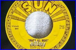 ELVIS PRESLEY SUN 209 45 That's All Right / Blue Moon of Kentucky withPush Marks