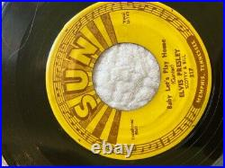 ELVIS PRESLEY SUN 217 45 I'm Left, You're Right/Baby Let's Play House PUSH MARKS