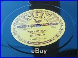 ELVIS PRESLEY SUN 78 COMPLETE SET OF 5 REPRO SUN 78s 209 210 215 217 223