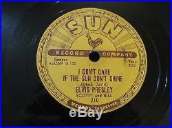 ELVIS PRESLEY SUN RECORD COMPANY Good Rockin' Tonight, I Don't Care if Sun Don't