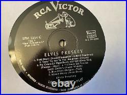 ELVIS PRESLEY Self-titled LPM-1254 C on RCA US Army PX stamp rock LP