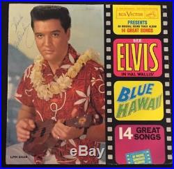 ELVIS PRESLEY Signed BLUE HAWAII Framed Autographed Album with JSA LOA Spence LOA