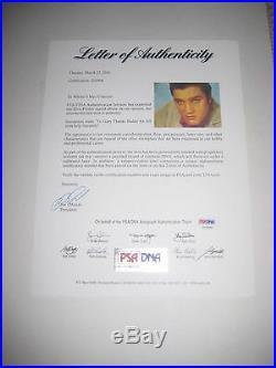 ELVIS PRESLEY Signed LOVING YOU Album with PSA LOA