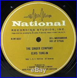 ELVIS PRESLEY Singer Company Tune-In Rare 1968 Promo LP Radio Spots'68 Comeback