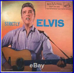 ELVIS PRESLEY Strictly Elvis RCA EPA-994 Orange Label 45 EP With Cover