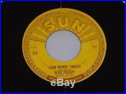 ELVIS PRESLEY Sun 210 I Don't Care If The Sun Don't Shine/ Good Rock PUSH MARKS