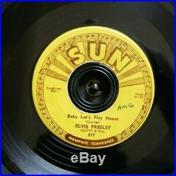 ELVIS PRESLEY Sun 217 45 Baby Let's Play House I'm Left You're Right Original 7