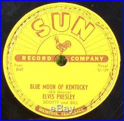 ELVIS PRESLEY That's All Right 78 on SUN 209 rockabilly original grail