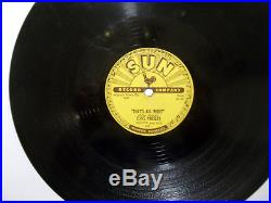 ELVIS PRESLEY That's All Right 78 on Sun 209, nice condition, beautiful labels