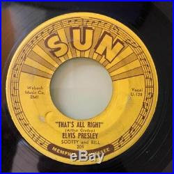 ELVIS PRESLEY That's All Right, Sun Records, 1st, #209, RARE ROCKABILLY 45