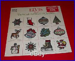 ELVIS PRESLEY WONDERFUL WORLD OF CHRISTMAS org 1971 RCA CARD BONUS SEALED hype