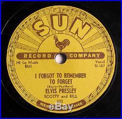 Elvis Presley Wow! Rare Original Shellac Sun 78 RPM Record Mystery Train