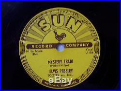 Elvis Presley Wow! Rarest Of The Rare Original Sun 78 RPM Record Mystery Train