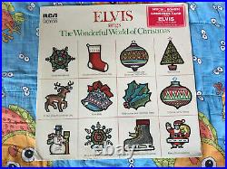 ELVIS PRESLEY Wonderful World of Christmas RCA LSP-4579 SEALED with CARD, STICKER