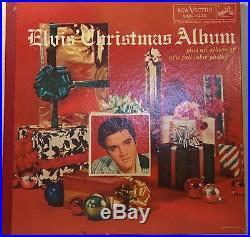 ELVIS PRESLEY christmas album gatefold LP on RCA VICTOR LOC-1035 with STICKER