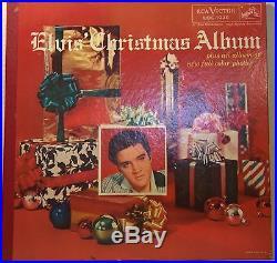 ELVIS PRESLEY christmas album gatefold LP on RCA VICTOR LOC-1035 with STICKER