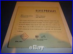 ELVIS PRESLEY on RCA EPA-747 Rare Label EP 45 Record Matches Cover
