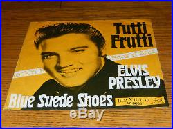 ELVIS PRESLEY rare German Germany 45t Tutti Frutti / Blue suedes shoes 47-6636