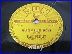 ELVIS PRESLEY sun record 5x10 78RPM SHELLAC singles 209 210 215 217 223 orginal