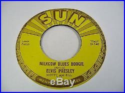 ELVIS PRESLEY sun record company 5x7 lot 45RPM singles 209 210 215 217 223 rare