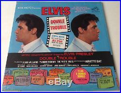 ELVIS PRESLEYDOUBLE TROUBLE SEALED 1967 with Orig'SEARS' Sticker & Photo LP