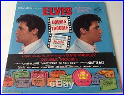 ELVIS PRESLEYDOUBLE TROUBLE SEALED with Orig'SEARS' Sticker & Photo 1967 LP
