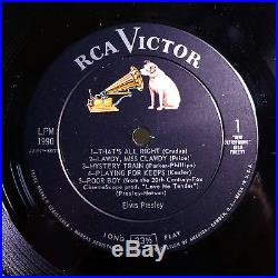 Elvis Presleyfor Lp Fans Onlyultra-rare Orig'57 Rca Victor Mono Lpstunning1s