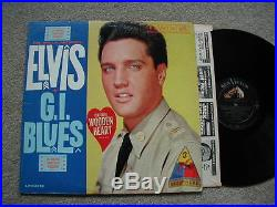 Elvis Presleygi Blueswooden Heart Stickerlong Playrare