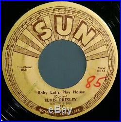 ELVIS presley SUN 217 BABY let's PLAY house PUSH marks 1955 rockabilly ORIGINAL