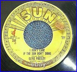 Elvis 45 Sun 210 V Cond Good Rockin' Tonight/I Don't Care If The Sun Don't shine
