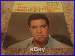 Elvis All Shook Up/That's When Your Heartaches Begin 447-0618 NM