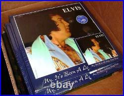 Elvis Collectors My, It's Been A Long Long Time 2 LP 12 Blue Vinyl & CD New