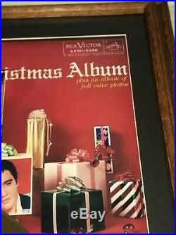 Elvis Gold Record Award Christmas Album Framed Beautiful Collectible