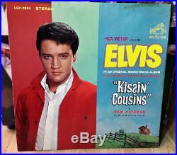 Elvis No Cast! KISSIN COUSINS WITH BONUS PHOTO! US Pressing STEREO 1964 Lp ROCK