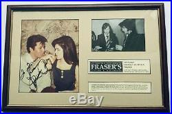 Elvis Presley 100% Original Elvis And Priscilla Autograph From Pal Grunland
