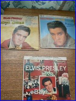 Elvis Presley 134 record Lot 45 RPM Records & Picture sleeves