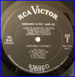 Elvis Presley 1963 RCA Victor Sampler-Fun In Acapulco-Ultra Rare! With Cover