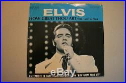 Elvis Presley 1969 7 Vinyl How Great Thou Art/His Hand With PS 74-0130 EX/VG+